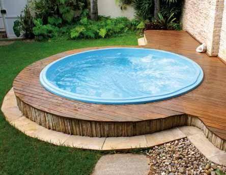 Piscina 2 2 redonda fibra pesquisa google arquitetura for Lona piscina redonda
