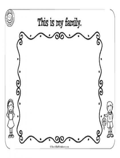 at family worksheets for kindergarten my family worksheet kindergarten top. Black Bedroom Furniture Sets. Home Design Ideas