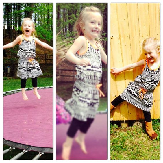 We love seeing this FabKid jumping in her FabKids Safari Camp outfit.
