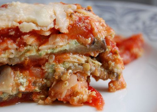 roasted eggplant lasagna