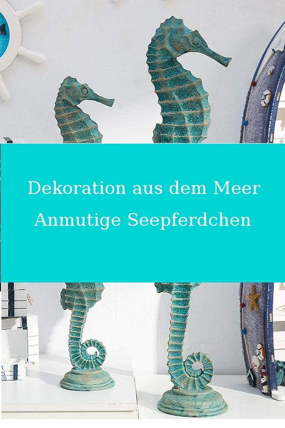 Jedes #Seepferdchen wird in Handarbeit hergestellt. Mediterrane Dekoration aus dem #Meer