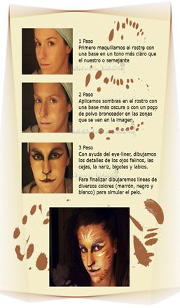http://www.ideandoamano.com/mascara-carnaval/ #Mascara #Maquillaje Felina pasos para maquillarte en la fiesta del #Carnaval