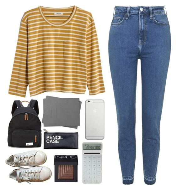 """Back To School"" by patricia-pfa ❤ liked on Polyvore featuring Madewell, Topshop, adidas, Eastpak, Shinola, NARS Cosmetics, LEXON, Native Union, BackToSchool and school"