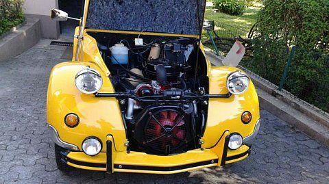 Citroen 2 Cv Grand Luxe Hoffman Cabriolet Jaune Occasion 30 000 50 000 Km Vente De Voiture D Occasion Motorlegend 2cv Citroen Cabriolet Voiture