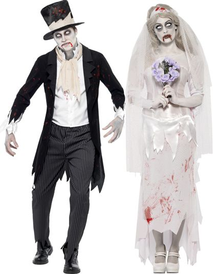 Deguisement de zombie en couple disponible ici halloween pinterest - Deguisement halloween couple ...