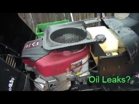 Briggs And Stratton Intek V Twin Engine Oil Leak How To