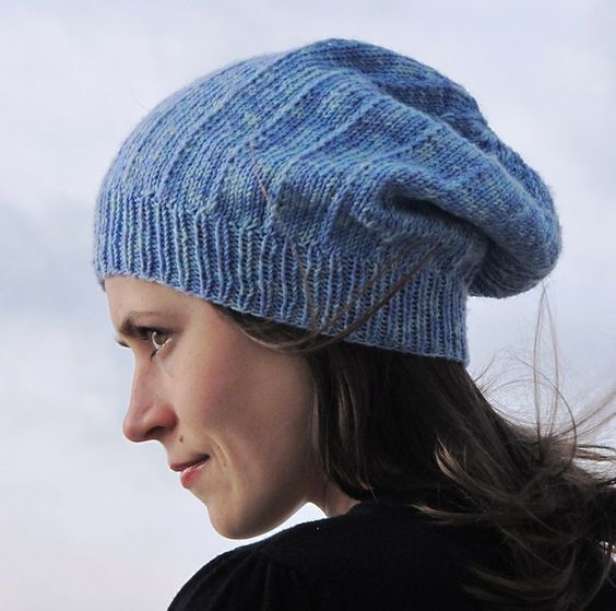 Michele Slouchy Hat Free Knitting Pattern and more free slouchy hat knitting patterns