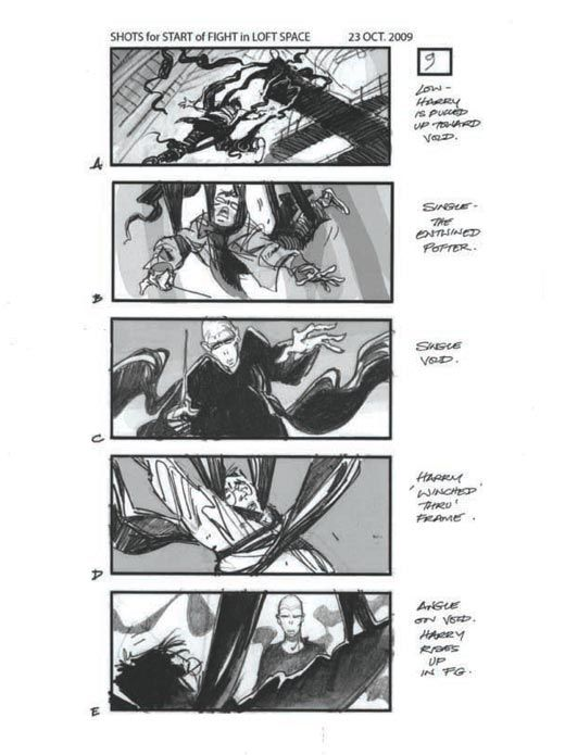 Harry Potter And The Deathly Hallows   Storyboards