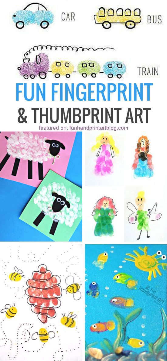 Adorable Fingerprint Crafts For Kids Fun Handprint Art