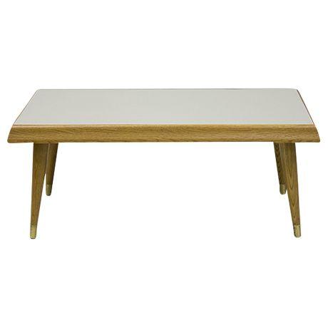 Mid-Century Oak and Laminate Coffee Table on Chairish.com