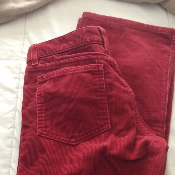Red juicy couture corduroys In good condition Juicy Couture Pants Boot Cut & Flare