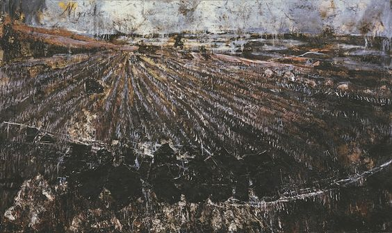 Nigredo,  1984, Anselm Kiefer (German, b. 1945). Oil, acrylic, emulsion, shellac, and straw on photograph on canvas, with woodcut, 10 feet 10 inches x 18 feet 2 1/2 inches (330.2 x 555 cm). Gift of the Friends of the Philadelphia Museum of Art in celebration of their twentieth anniversary, 19