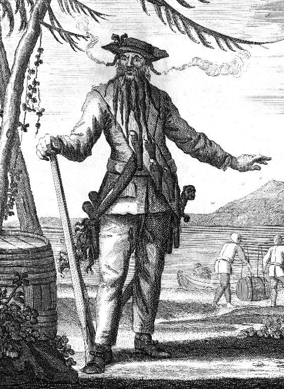 Blackbeard (whose real name was Edward Teach) was a ...