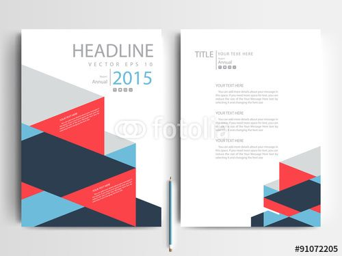 Business people vector template set 03 ideas presentaciones - annual report cover page template