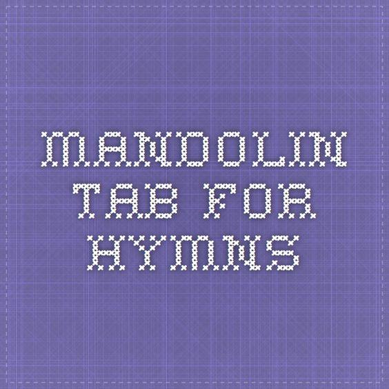 Mandolin mandolin tabs hymns : Mandolin on Pinterest