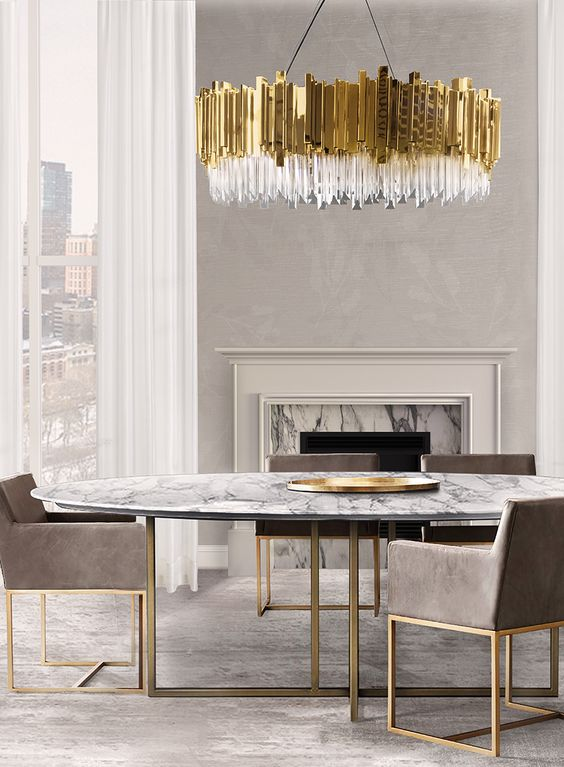 Dining room lighting ideas for a luxury interior design! Feel inspired: www.luxxu.net | #lighting #interiordesign #luxurydesign
