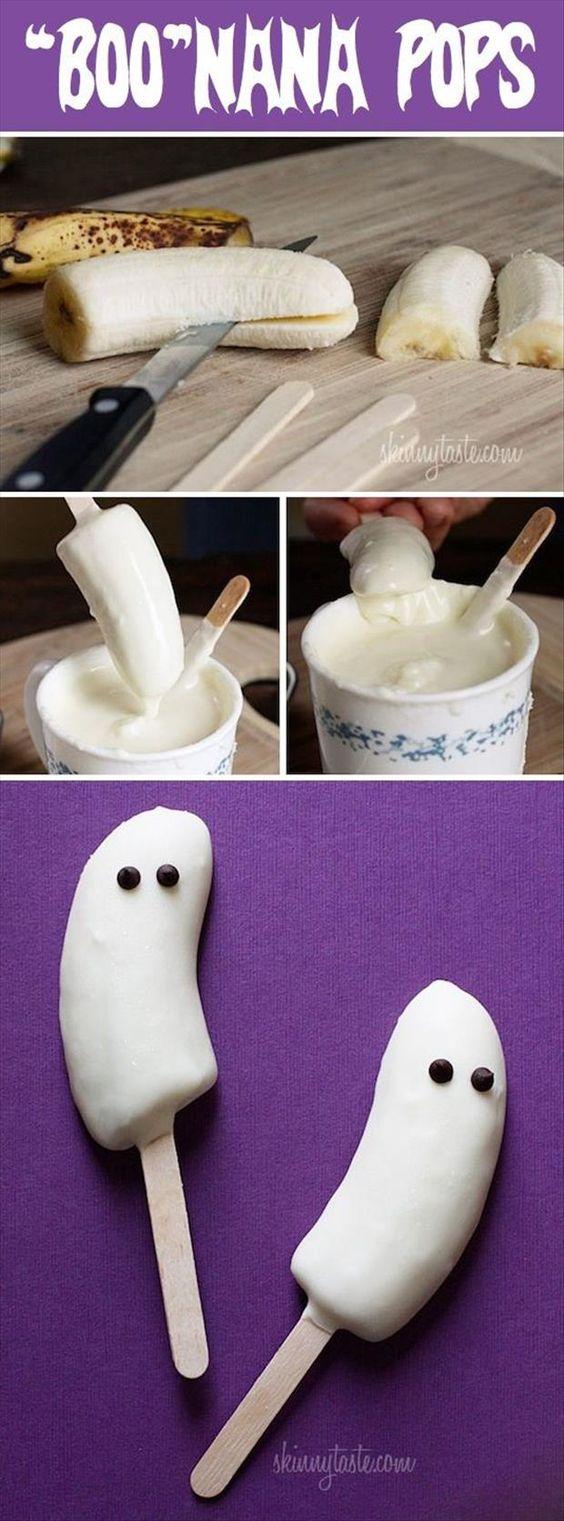 Fantasma de banana e chocolate branco.