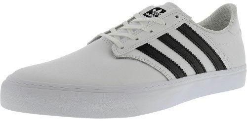 adidas Men's Seeley Premiere Ftw White / Core Black Low Top Leather  Skateboarding Shoe - 11.5