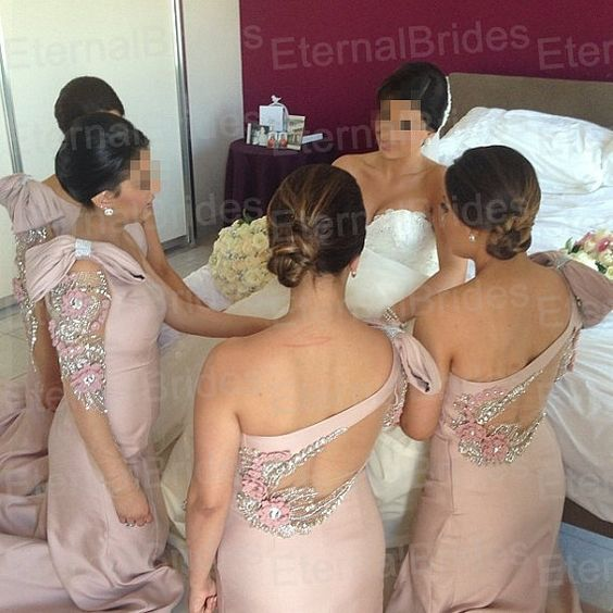 Sexy Mermaid Wedding Dres with pearl beads floral by EternalBridal, $189.00