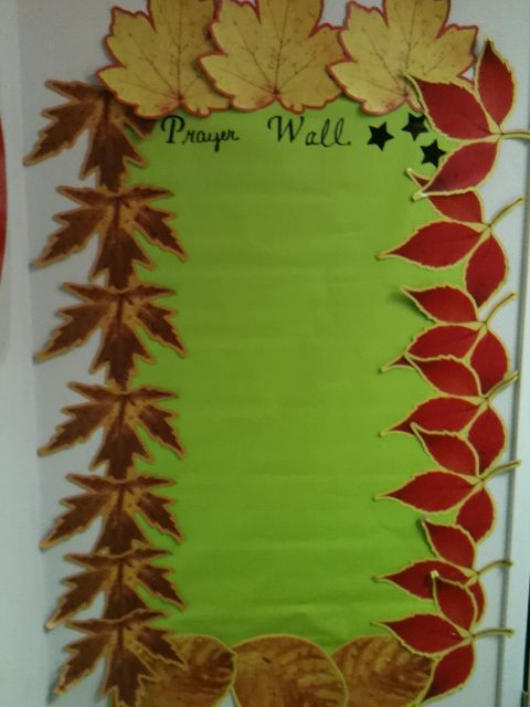 Prayer wall for Sunday School..love the border