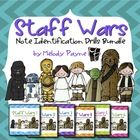 Staff Wars: Note Drills BUNDLE for Elementary Music Students