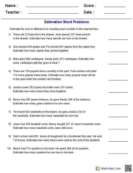 math worksheet : word problems math word problems and math words on pinterest : Division Estimation Worksheets
