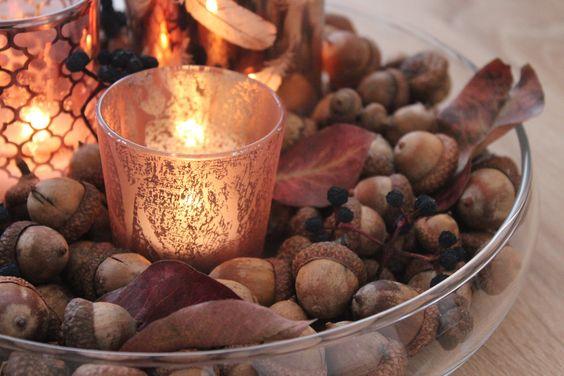 autumn decor candleholder