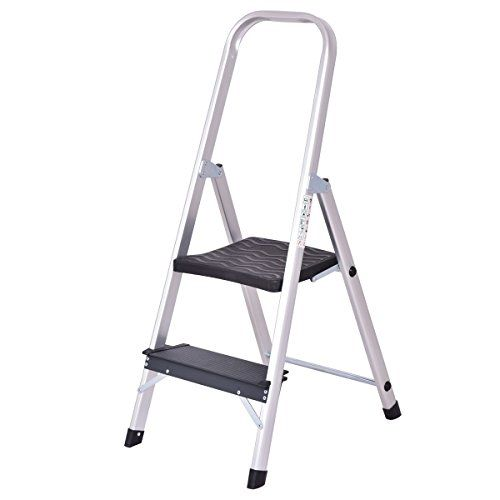 Stupendous Cheap Giantex Aluminum 2 Step Ladder Folding Non Slip With Inzonedesignstudio Interior Chair Design Inzonedesignstudiocom