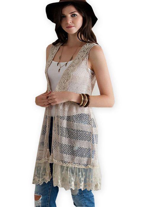 Crochet Lace Hippie Vest