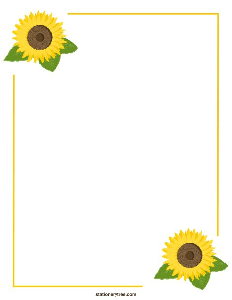 88 free sunflower border templates sunflower border templates free