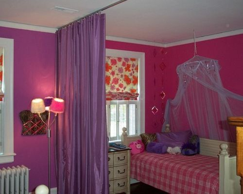 Purple Curtain Room Dividers Eclectic Kids Room Decor Ideas Home - Room dividers kids
