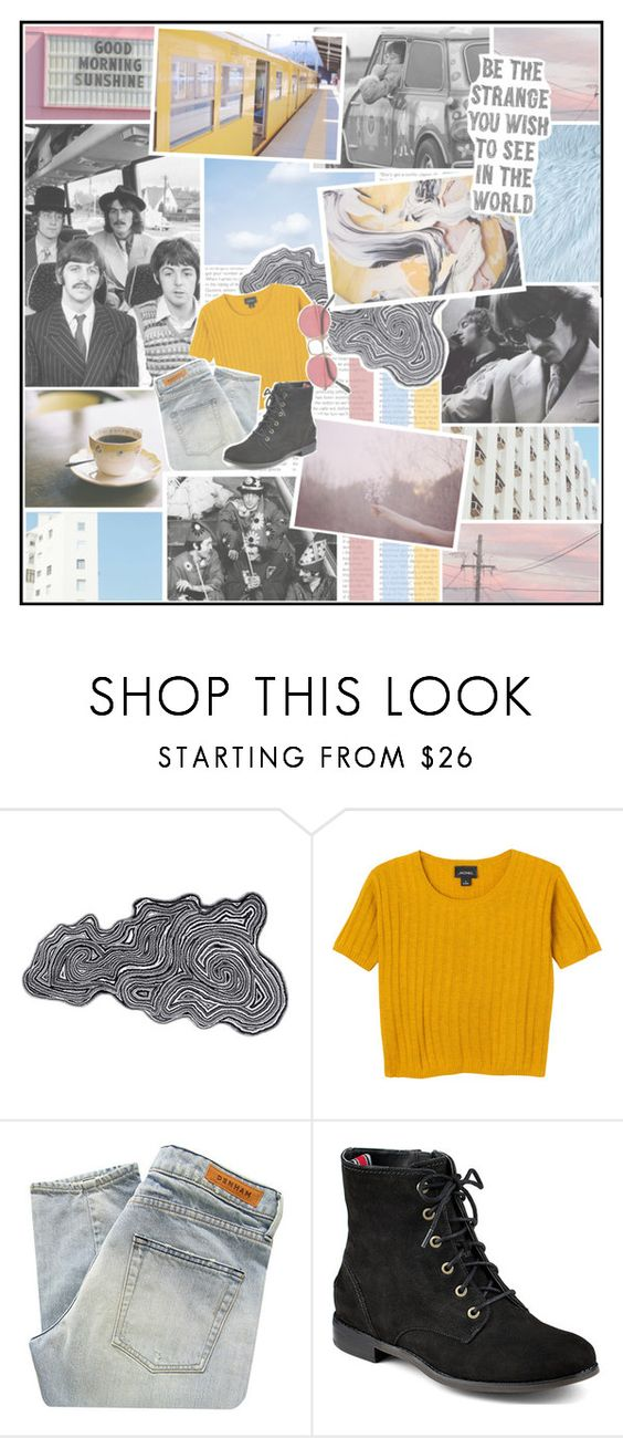 """The magical mystery tour is coming to take you away // Coming to take you away // The magical mystery tour is dying to take you away // Dying to take you away, take you today"" by partyondudes ❤ liked on Polyvore featuring Abyss & Habidecor, Monki, Denham, Sperry Top-Sider, MasterOfHashtags and FelineIcide"