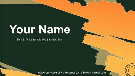 Pin By Taco Infotech  It Company On Visiting Card Design In Delhi