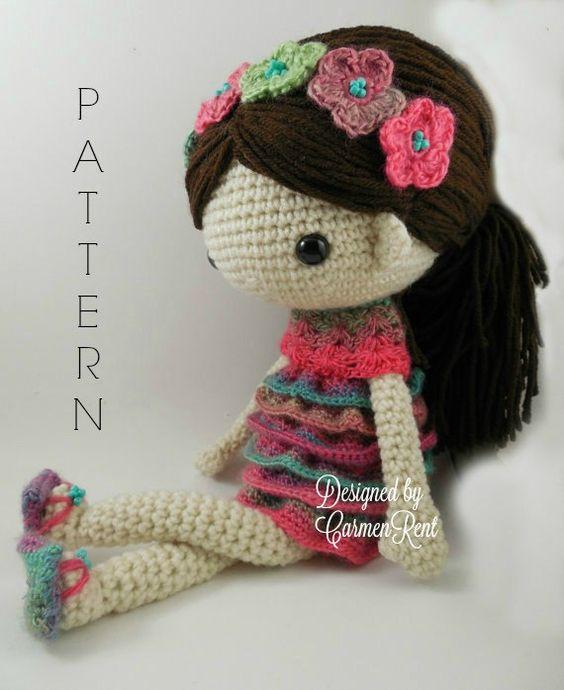 Amigurumi Doll Pdf : Claudia amigurumi doll crochet pattern pdf swim the