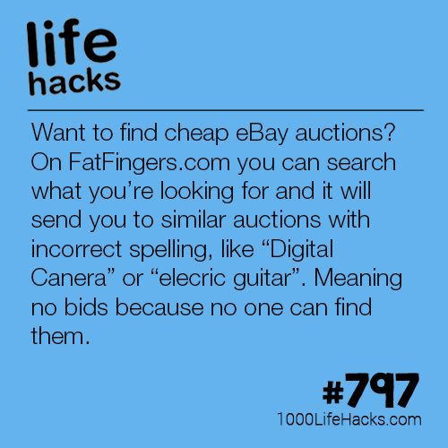 Find Cheap Items On Ebay 1000 Life Hacks With Images 1000