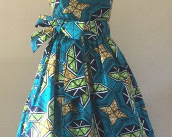 Make a Statement African Wax Print One Shoulder Dress by WithFlare