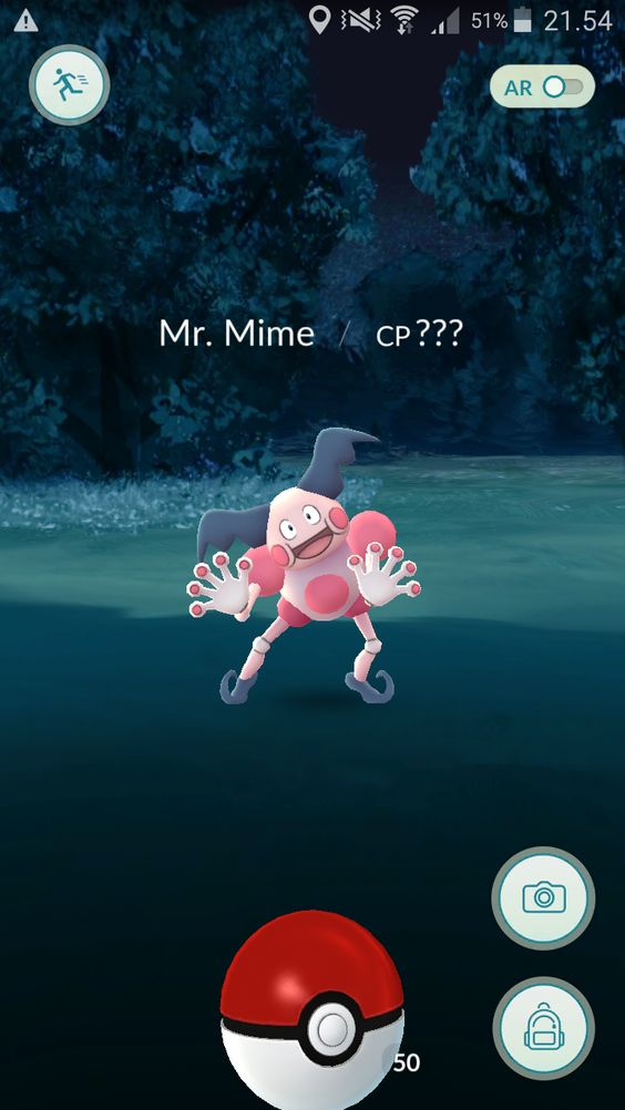I just downloaded pokemon go and the first pokemon I find is this