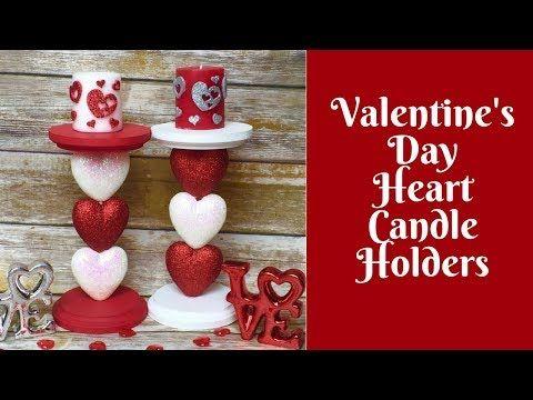 Dollar Tree Valentines Day Diy Heart Shape Box Decor 2018 Diy Room Dec Diy Valentines Decorations Diy Valentine S Candles Diy Valentine S Day Decorations