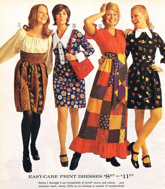 Seventies Women S Fashion Dress