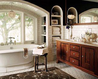 Kitchen Designer, Kari Whitman. Custom Bathroom and Kitchen Designer - Jessica Alba's master bathroom