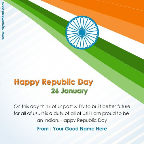 Handmade Greeting Cards For Republic Day Republic Day Cards Designs