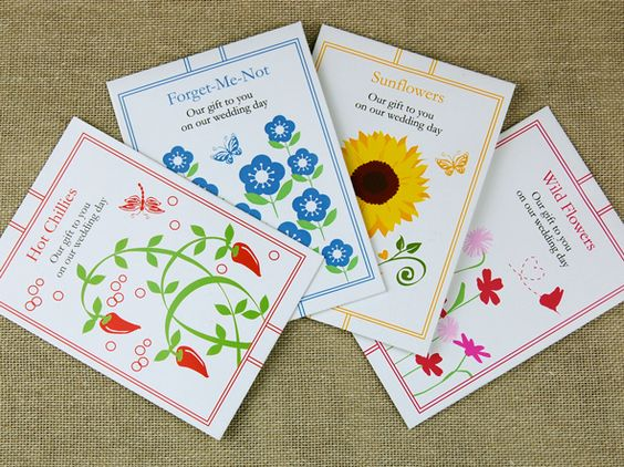 Eco seed favour packs from cherrygorgeous.co.uk