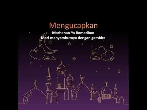 Gratis Template Video Power Point Ucapan Ramadhan 1441 H 5 Template Lukisan Bunga