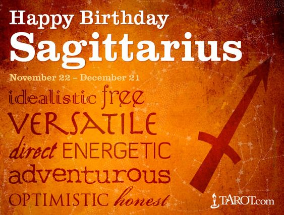 Happy Birthday Sagittarius!: