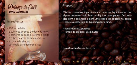 Hummm... com quem você gostaria de saborear esta delícia? www.ganhecomcafe.com #cafe