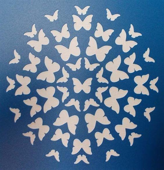 Círculo de mariposas plantilla