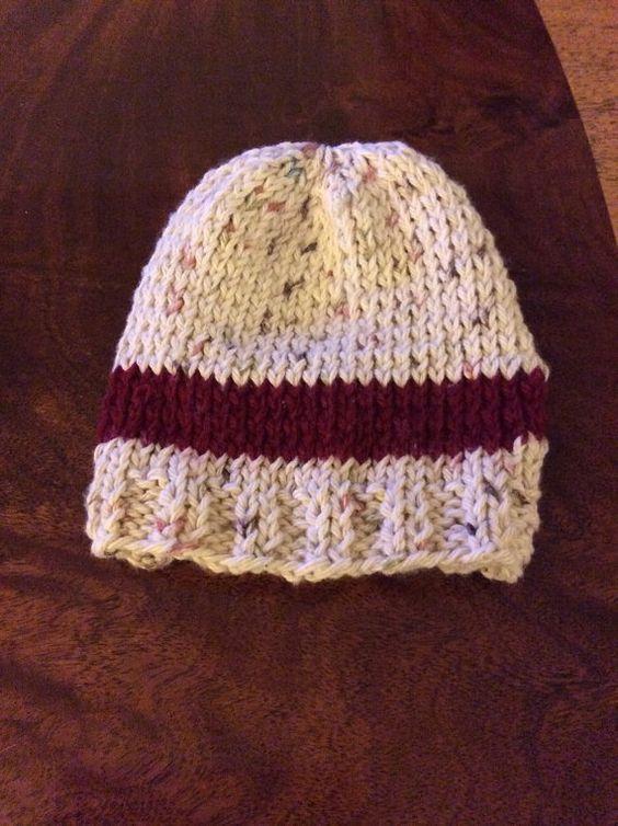 Hand knit soft newborn baby hat #madewithlove