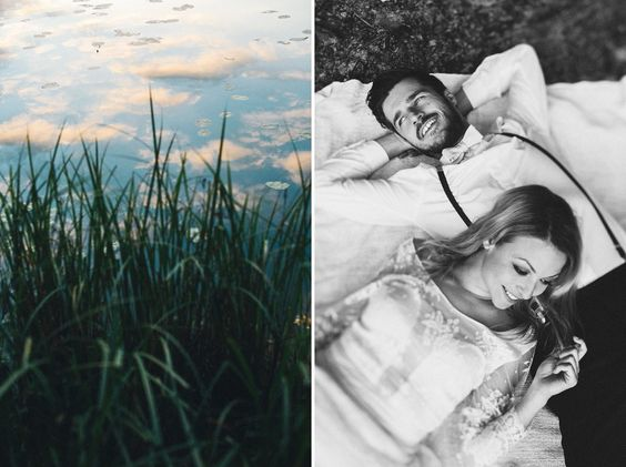 Late summer evening at the lake • Anna & Johannes - Paul liebt Paula | wedding photographer