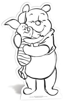 Winnie The Pooh And Piglet Colour And Keep Cardboard Cutout