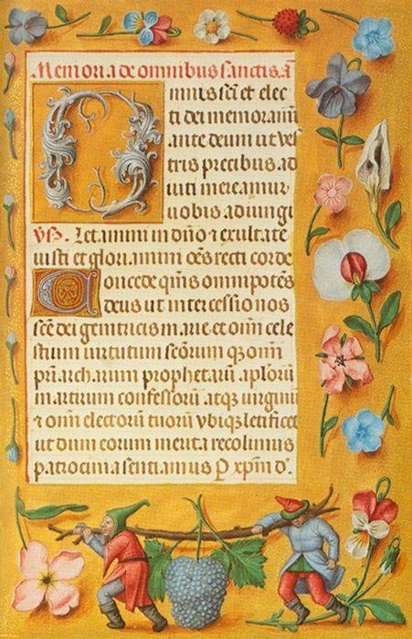 Rothschild Gebetbuch Gand ou Bruges, 1510-1520 Enlumineurs: Gerard Horenbout, le Maître de Maximilien, Gerard David et Simon Bening